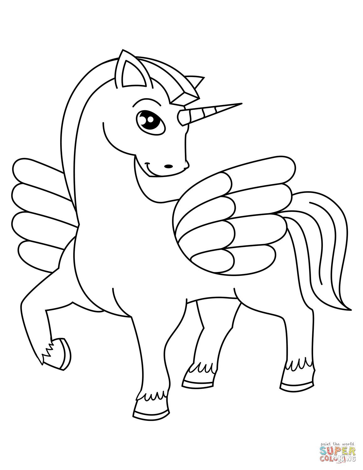 7200 Coloring Sheets For Unicorn , Free HD Download