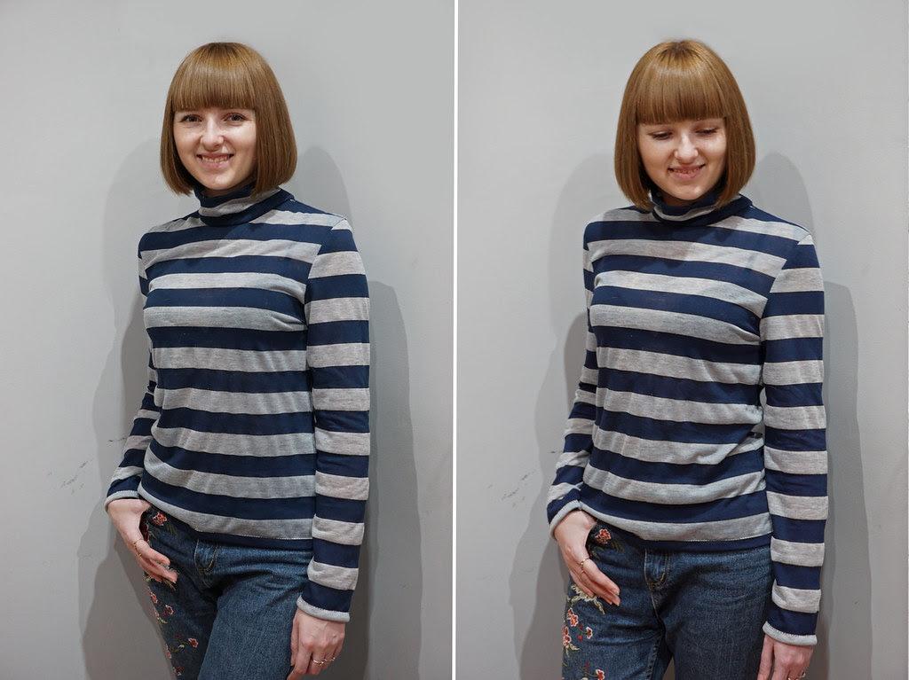 eba267a65c1 На прошлых выходных я наконец закончила шить свой первый гольф! Такие модели  свитеров сейчас очень популярны