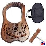 Athletin Harp Lyre Rosewood 10 Metal Strings Scottish Thistle