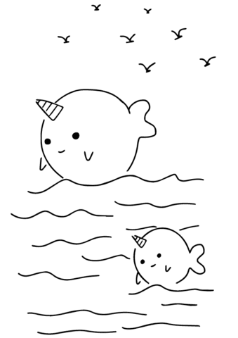 860 Top Cute Coloring Pages Of Narwhals For Free