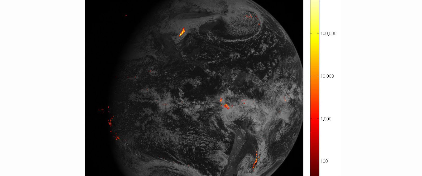 PHOTO: The first image from NOAAs new satellite that maps lightning.