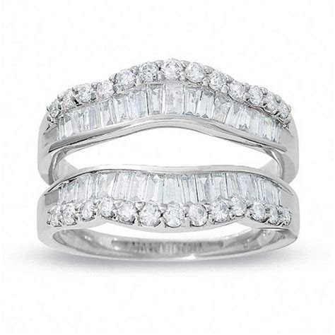 1 CT. T.W. Round and Baguette Diamond Wrap Guard in 14K