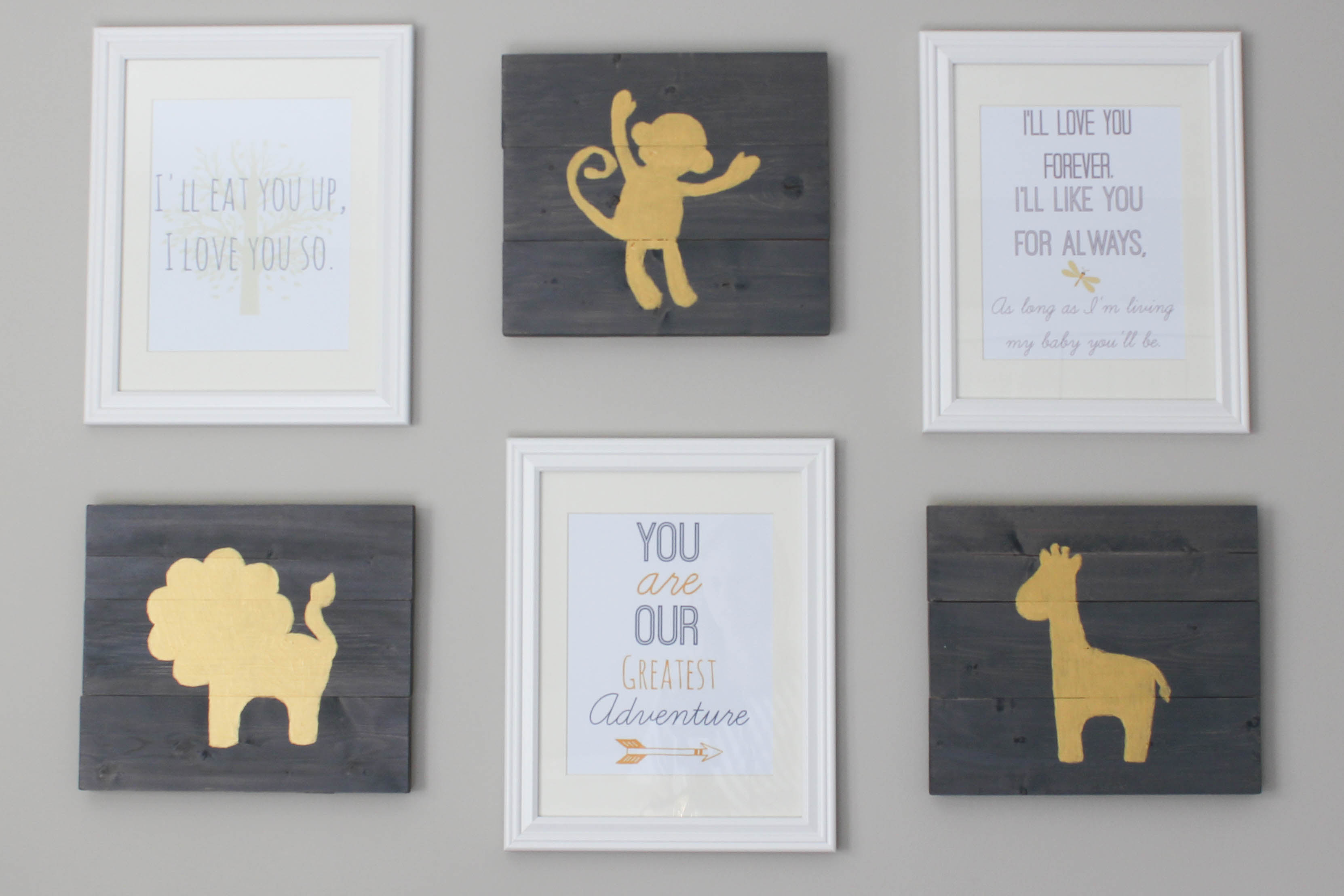DIY Hand Painted Nursery Wall Art - Erin Spain