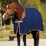 Amigo Mio Fleece with Removable Surcingles - NAVY/TAN: