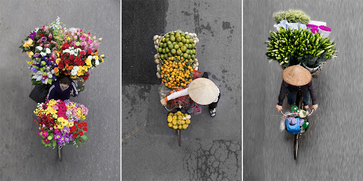Beautiful Aerial Photos of Vietnam's Street Vendors