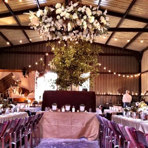 Inside the transformed metal barn!   Wedding and Event