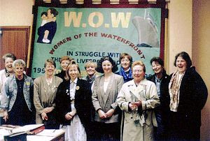 WOMEN OF THE WATERFRONT SHOW OFF THEIR NEW BANNER