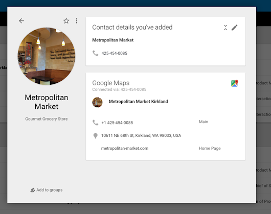 Google Contacts Can Now Use Phone Numbers To Pull And Auto-Populate Business Data From Maps On The Web