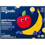 Organic Applesauce Pouches - Apple Banana Blueberry - 12ct - Good & Gather