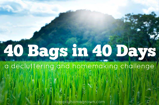 40 Bags in 40 Days Challenge - Week #1 - Happily Homegrown