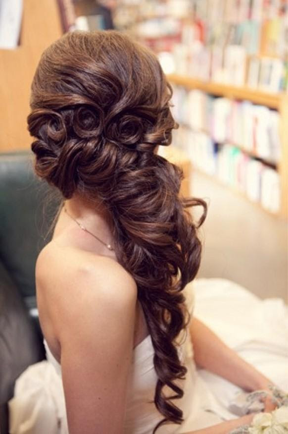 Wedding Hairstyles To The Side For Long Hair | Best Wedding Hairs