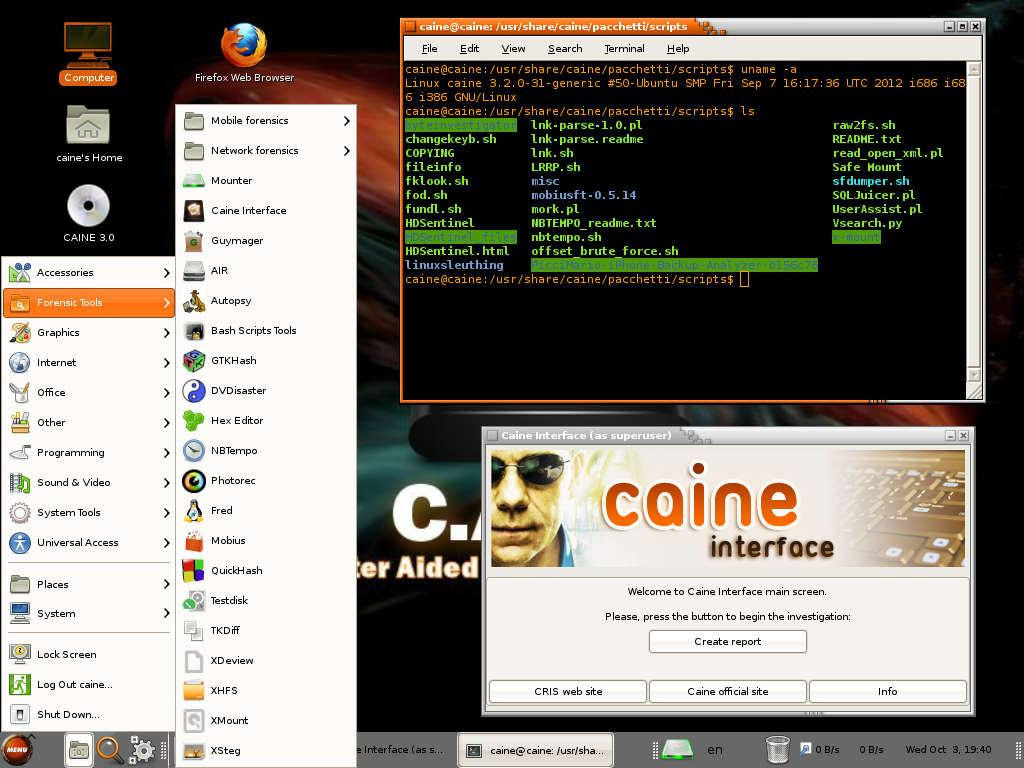 CAINE Linux - Notable Penetration Test Linux distributions of 2014 - blackMORE Ops