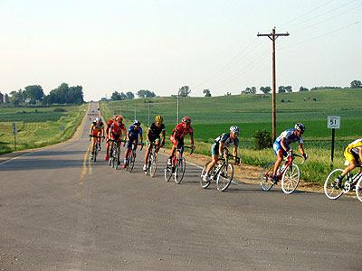 Racers turn east onto Highway 1