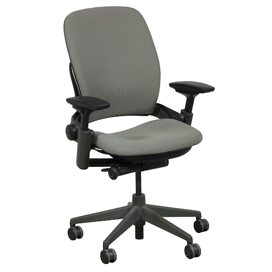 Steelcase Leap V2 Used Task Chair, Taupe