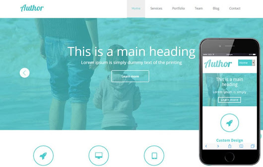 Agency Author Portfolio Flat Responsive Web Template by w3layouts