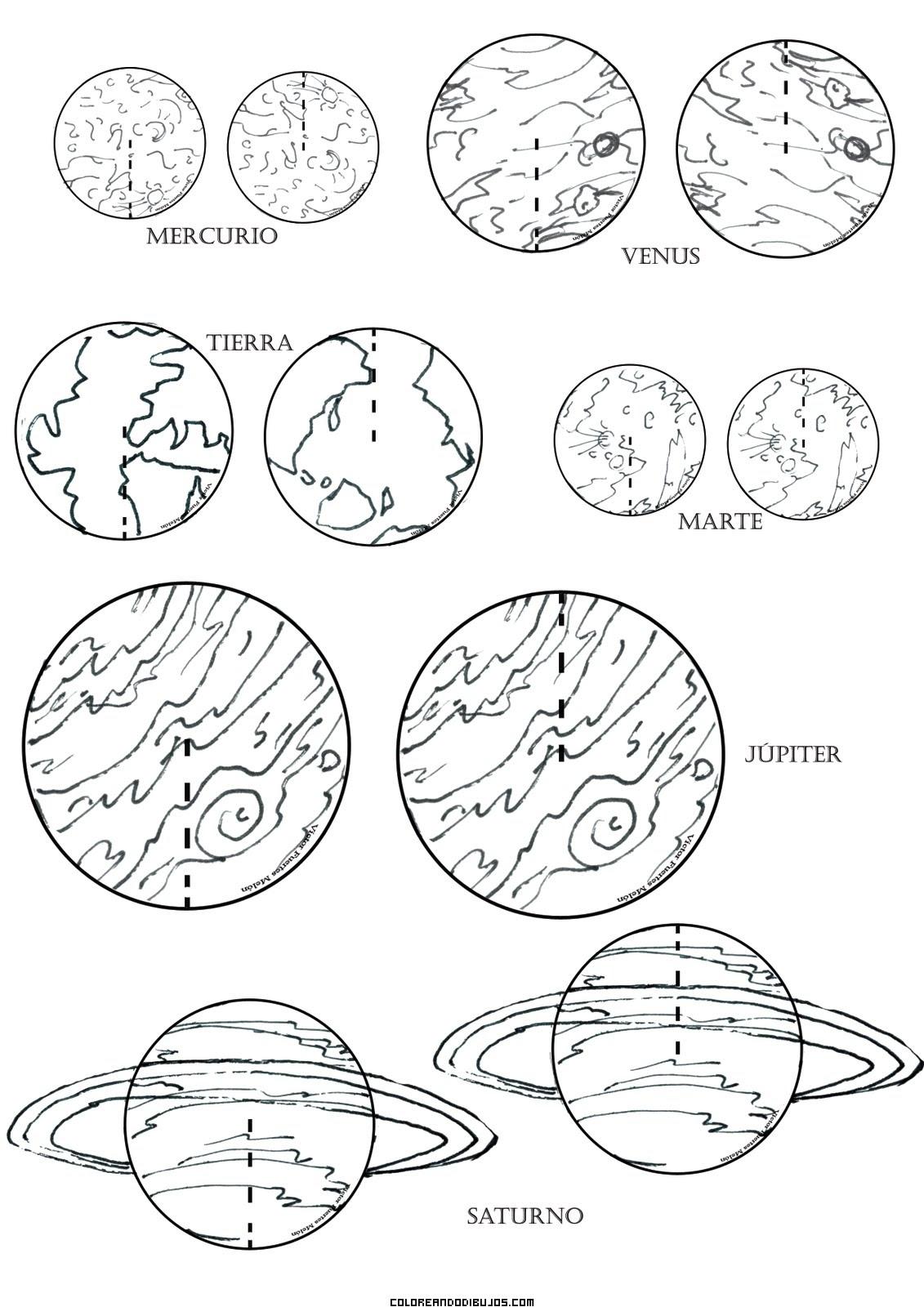 Planetas Para Colorear