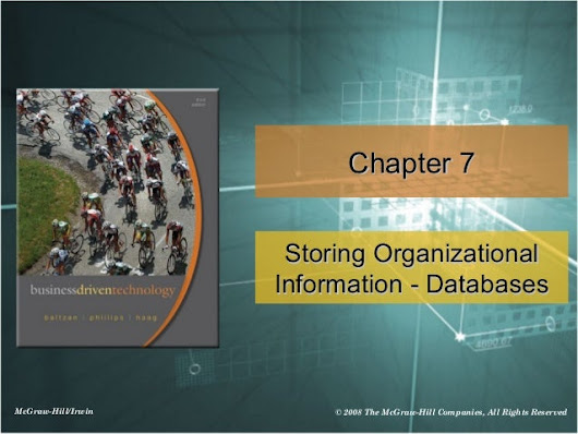 chapter 7 -Storing Organizational Information