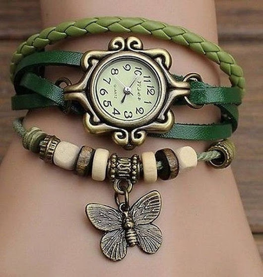 Butterfly Weave Wrap Quartz Leather Wrist by ThomasCraftStudio