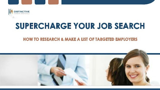 The Secret to a Fast, Successful Job Search: How To Research & Target…