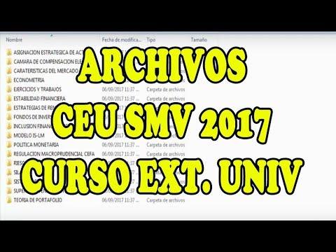 CEU SMV 2017 CURSO SUPERINTENDENCIA MERCADO DE VALORES