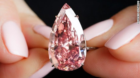 Rare pink diamond smashes auction records
