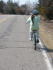 Sophia on the 1st Bike Ride of the Season