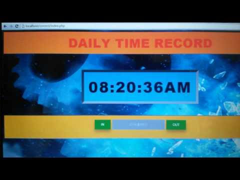 Daily Time Record (DTR) System-- Using Php and mysql check ...