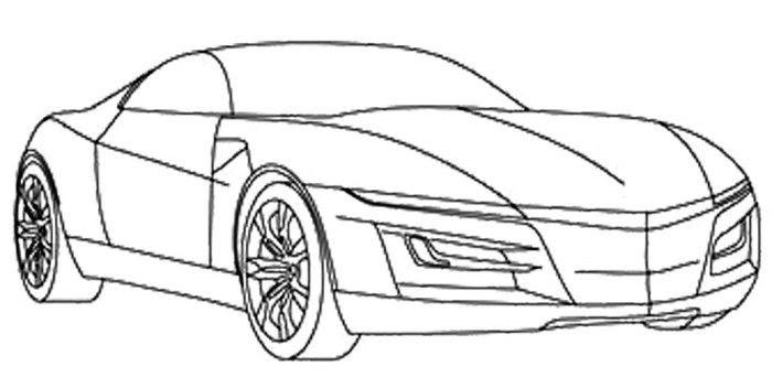 Audi R8 Zum Ausmalen - Vorlagen zum Ausmalen gratis ausdrucken