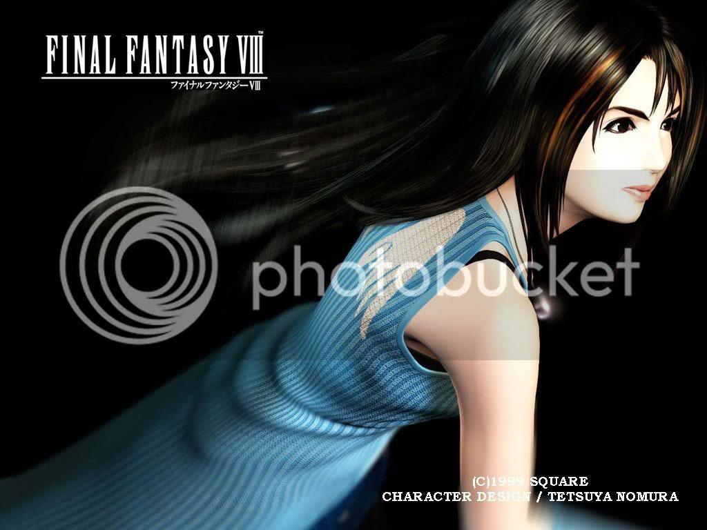 Squall Lionheart and Rinoa Heartilly Final Fantasy VIII Wallpaper