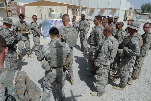 ISAF CSM visits 1-508PIR on June28