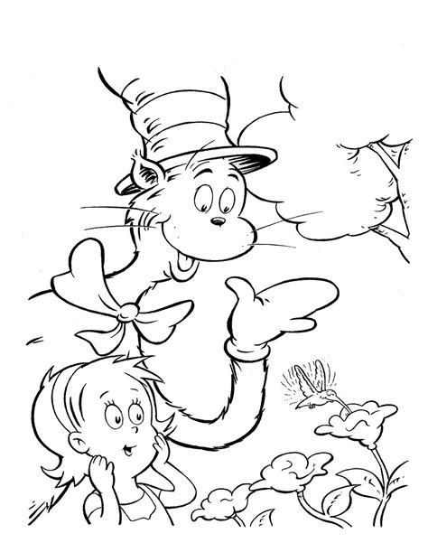 cat   hat pictures  print coloring home