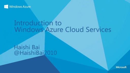 Introduction to Windows Azure Cloud Services (Channel 9)