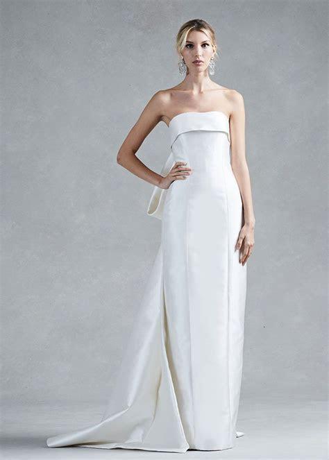 Colum fit silk wedding dress from Fall/Winter 2017 Oscar