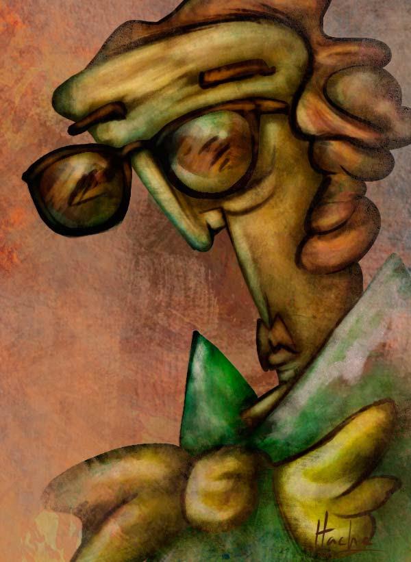 Ilustracion: literatura por Hache Holguín