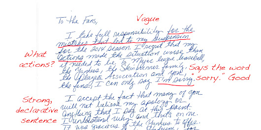 We Asked 5 Public Apology Experts To Critique A-Rod's Handwritten Note