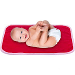 Cozy, Warm, Soft Travel Changing Pad Baby Swaddle for Newborns & Infants - Red