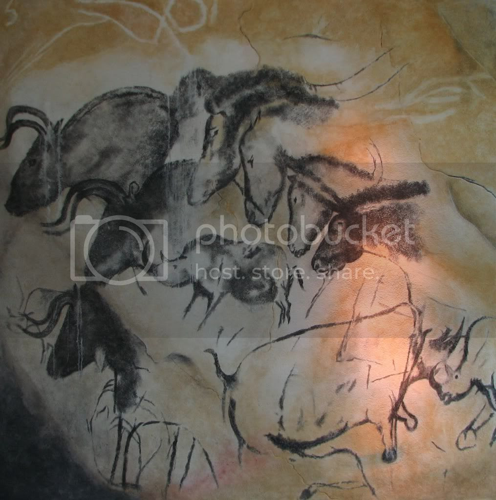Chauvet Cave [Horse Panel] replica (ca 30,000 BC) Pictures, Images and Photos