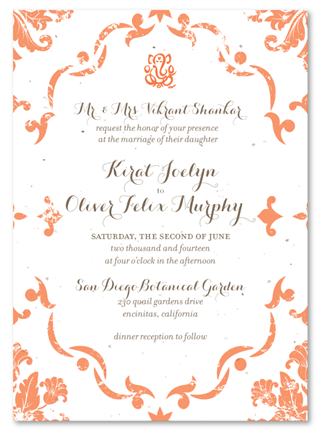 White Seeded Paper Vintage Damask