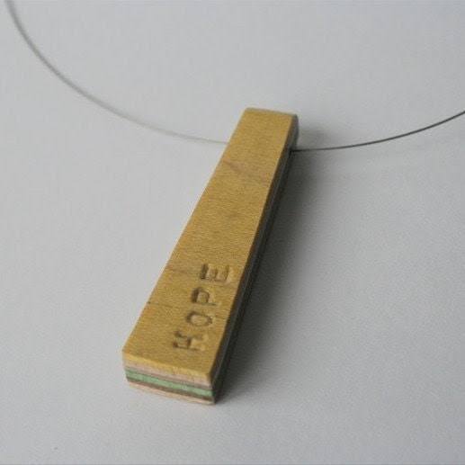 Recycled HOPE Necklace - No. 291