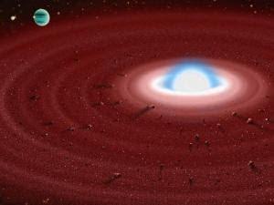 Remanente de un planeta parecido a la Tierra