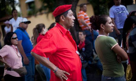 Venezuelans left homeless after December's torrential rains gather in a wealthy Caracas suburb