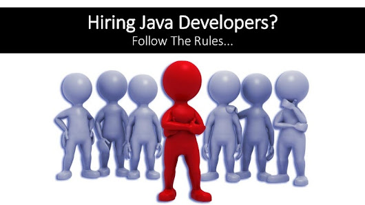 4 Simple rules for Hire Java Developers