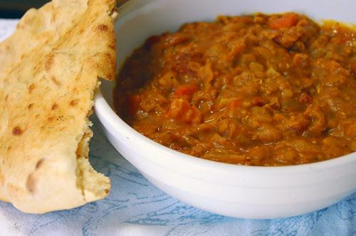 naan + red lentils