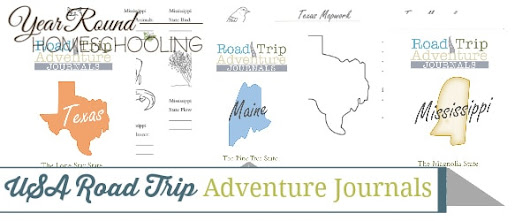 USA Road Trip Adventure Journals - Year Round Homeschooling