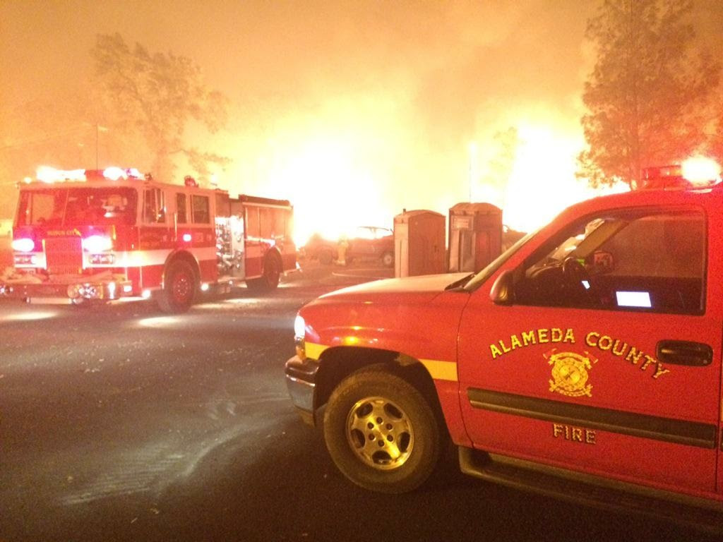 The Alameda Fire Department helps battle the Valley Fire. ALAMEDA FIRE DEPT.