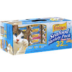 Purina Friskies Seafood Variety Pack Cat Food - 32 pack, 5.5 oz cans