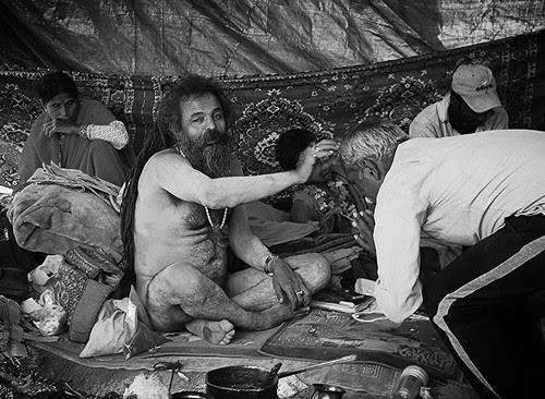 Blessings Of The  Naga Baba Maha Kumbh by firoze shakir photographerno1
