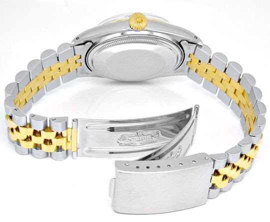 Foto 3, Rolex Datejust Herren Chronometer Stahlgold Topuhr Neuw, U1934