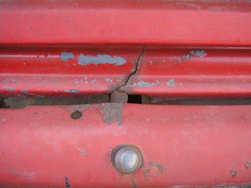Cracked body panel