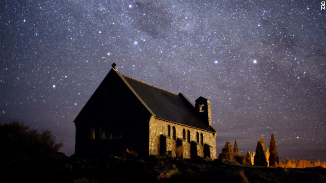 Orion, Pegasus and about a million of their friends are visible in Mackenzie Basin in New Zealand.